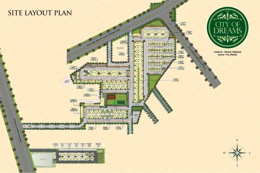 sbp city of dreams site plan